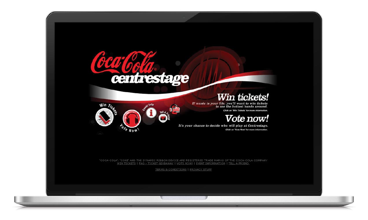 Coca Cola - Web visual